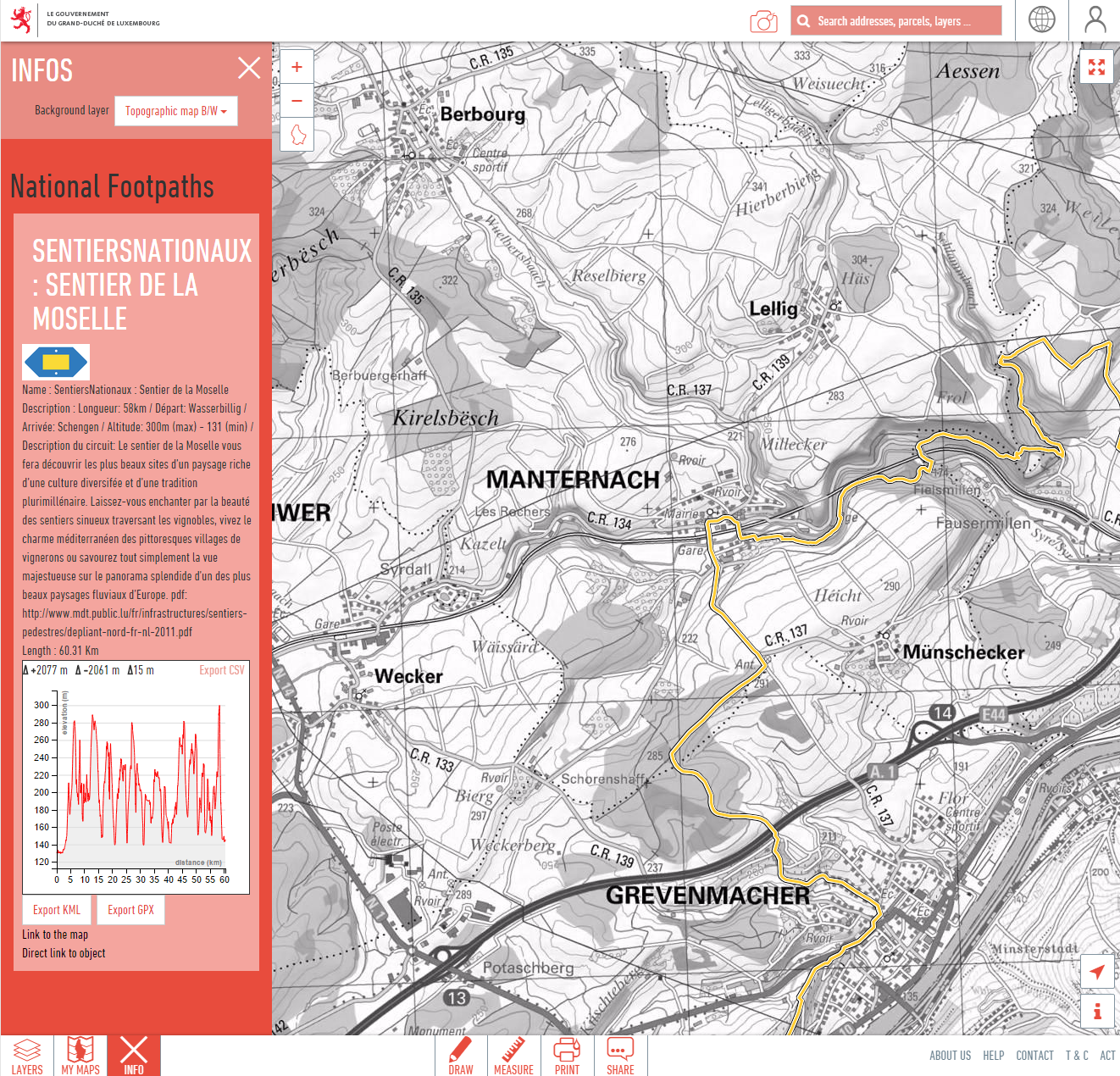 Geoportal - Find hiking trails